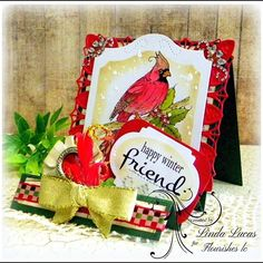 Loving this Happy Winter Friend Christmas Card which was created by @lovely.linda1 with their Chameleon Pens.  #flourisheslc #fllc #beverlycole #winterbirds #chameleonpens #imaginecrafts #teamspellbinders #diecuts #paperart #diy #birds #want2scrap #scrapbookadhesivesby3l #cardmaking #lovelylinda #lindalucas #linda #art #friendship