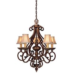 Justice Design Group Dakota Dark Bronze and Amber Twenty-One Light ...