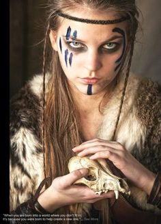 """Find and save images from the """"pagan/celtic/medieval"""" collection by fadaria on We Heart It, your everyday app to get lost in what you love. Cosplay Costume, Costume Makeup, Makeup Inspiration, Character Inspiration, Character Ideas, Makeup Ideas, Makeup Art, Viking Face Paint, Viking Makeup"""