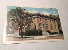 Dyersburg, Tennessee Postcard U.S. Post Office Building Curteich Linen Unused
