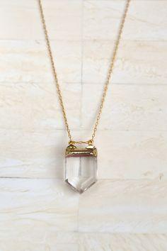Acodo Simple collar collar de cristal de cuarzo collar
