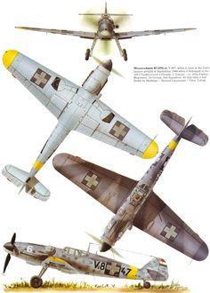 Messerschmitt Bf.109G Gustav | Hungary | 101.Vadaszezred, 1.Szazad, 2.Szazad | Bf.109G-6 | V.847, 6