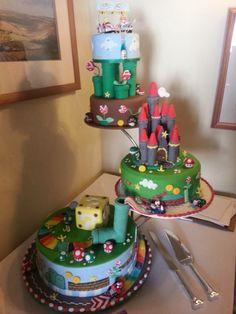 Now that is a cake! Bolo Super Mario, Nintendo Mario Kart, Wedding Styles, Wedding Ideas, Mario Bros., Cake Decorating, Wedding Cakes, Cupcakes, Game