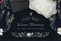 Silver Flowers @creativework247