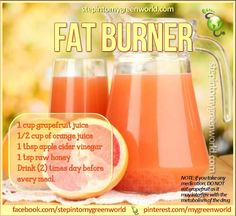 Apple Cider Vinegar and Grapefruit Fat Flush www.stepintomygre… Apfelessig und Grapefruit Fat Flush www. Healthy Juices, Healthy Smoothies, Healthy Drinks, Smoothie Recipes, Detox Smoothies, Healthy Food, Healthy Juice Recipes, Healthy Water, Vegetarian Recipes