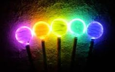 Lisa U. Glow in the dark wands to use for the ending