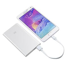 Xiaomi 5000mAh Power Bank Description: Battery capacity: 3.7V 5000mAh Interface: Micro USB(input), USB(output) Input: 2.0A(TYP) DC 5V Output: 2.1A DC 5.1V Charging time: about 3 hours with 5V/2A charger Charge temperature: 0℃-45℃ Discharge temperature: -20℃~+60℃ Weight: 150g