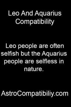 Leo people are... http://astrocompatibility.com/
