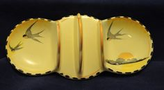 ART Deco Burleigh Ware Toast Rack With Conserve Dishes Swallow Design 14 | eBay