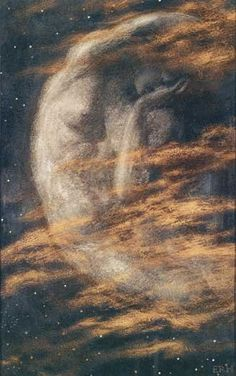 History of Art: Neoclassicism and Romanticism >> The Weary Moon- Edward Robert Hughes
