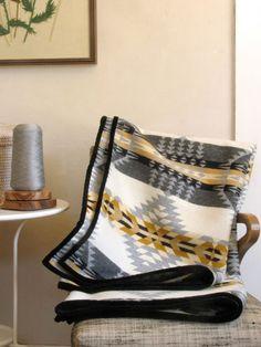 Wool Blanket Native American Inspired Design in Gray Taupe Black White - Wool Diy Native American Bedroom, Native American Blanket, Native American Decor, Southwest Decor, Southwestern Decorating, Southwestern Style, Pendelton Blankets, Indian Blankets, American Interior