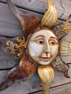 Metal SUN MOON Wall Art 22.5 in. sq GARDEN HOME WALL DECOR FENCE PLAQUE sunny   #Unbranded