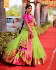 lehenga saree, saree dress, reuse saree, lehenga from saree Lehenga Saree Design, Half Saree Lehenga, Lehnga Dress, Saree Look, Lehenga Designs, Saree Blouse Designs, Ghagra Saree, Lehenga Skirt, Lehenga Blouse