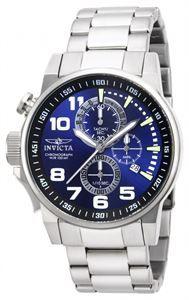 Reloj Invicta Force, compacto de acero de lo más resistente, con un color azul brillo que da resplendor a la esfera y voluminosidad al reloj, y sumergible hasta los 100 metros. www.relojes-especiales.net #luminiscente #azul #relojes #watches