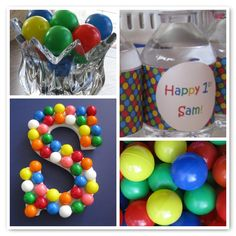 1ST BIRTHDAY BACK DROP IDEAS FOR BOYS | ... well as bright colors and pictures of the birthday boy's first year