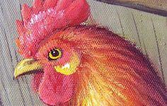 Barnyard Chickens Hens Barn Farm Birds Oil Painting Art-in Painting