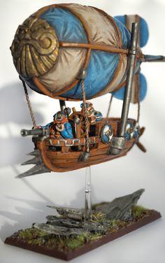 Warhammer FB | Dwarfs | Dwarf Gyrocopter Conversion #warhammer #ageofsigmar #aos #sigmar #wh #whfb #gw #gamesworkshop #wellofeternity #miniatures #wargaming #hobby #fantasy #dwarfs #zwerg #gyrocopter #conversion #DIY