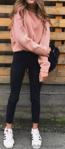 Cute Fall Casual Back to School Outfits Ideas for Teens for College 2018 Casual Fashion -ideas para el regreso a la escuela - www. Fall Outfits For School, Cute Teen Outfits, Cute Comfy Outfits, Casual Winter Outfits, Teenager Outfits, Winter Fashion Outfits, Fashionable Outfits, Comfy School Outfits, College Winter Outfits