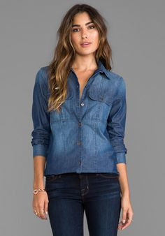PAIGE DENIM Ali Shirt in Lilly