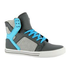 Supra Muska Skytop Skate Shoes (61 CAD) ❤ liked on Polyvore featuring shoes, sneakers, supra, zapatos, chaussures, grey shoes, gray shoes, supra sneakers, supra shoes and supra footwear