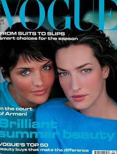 Helena Christensen and Tatjana Patitz - June 1994