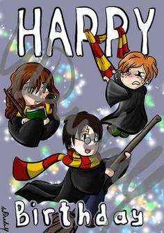 HARRY Birthday card (watermark)