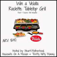 Velata Raclette Tabletop Grill Review and Giveaway lisamk.velata.us I can't wait to get one-!!!