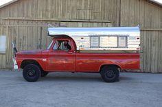 1965 CHEVROLET C10 FACTORY 4X4 W/ ALASKAN POP TOP CAMPER VINTAGE ADVENTURE NAPCO