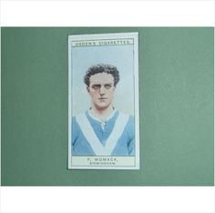 F WOMACK BIRMINGHAM SINGLE CIGARETTE CARD NO 4 OGDENS 1926 Tilleys of Sheffield CAPTAINS OF ASSOCIATION FOOTBALL CLUBS & COLOURS SINGLE CARD FROM A SET OF 44 Bid or Buy Now with complete confidence.... I have been selling quality printed collectables since 1978 World wide mail order & over the counter tilleysmagazines.com
