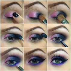 Purple & Pink Smokey Eye (Pictorial)