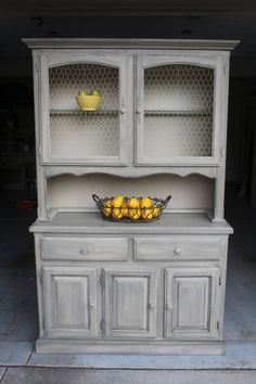 Chalk Painted Farmhouse Hutch by ChalkItUpMileHigh on Etsy, $549.00