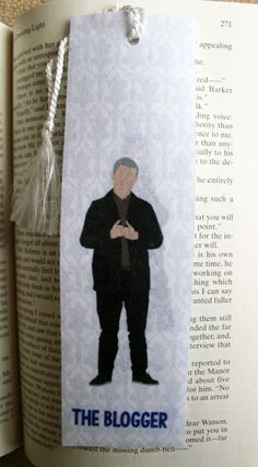 """Sherlock & John Minimalist"" Felt bookmark. Inspired by Sherlock Features: - 2"" x 7"" and about 0.05"" thick. - Lightweight - Bendable and sturdy Perfect gift item!"