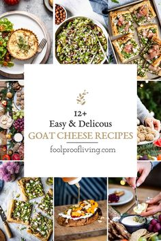 Wondering what to do with chevre goat cheese? Here are 12 easy goat cheese recipes ranging from breakfast dishes to appetizers to everything in between. Easy Goat Cheese Recipe, Beet And Goat Cheese, Baked Goat Cheese, Goat Cheese Recipes, Goat Cheese Salad, Cheese Dips, Brunch Dishes, Breakfast Dishes, Breakfast Recipes