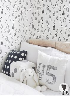 Patterned Raindrop Wallpaper / Traditional or by LivettesKIDS