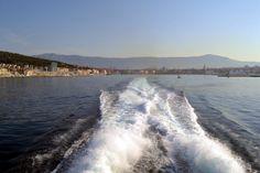 Taking the Catamaran from Split, Croatia