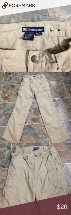 5.11 tactical pants Tan with lots of pockets, in like new condition , my daughter had to buy for a class 5.11 Tactical Pants Straight Leg