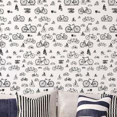 Repositionable Wallpaper Bikes Chispum