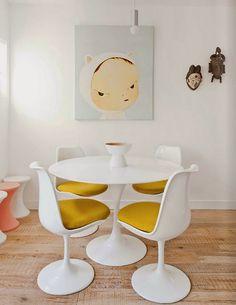 Tulip Table by Eero Saarinen, How to decorate Clásicos del diseño industrial: Mesa Tulip de Eero Saarinen