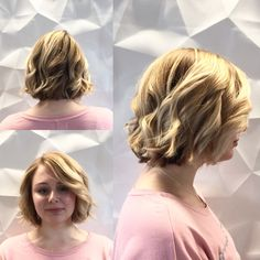 We love this #BlondeBob on our client by #SeniorStylist #MauraSantostefano! Maura did a full head of highlights, fresh cut and styled with a 1 inch tapered curling iron to create this look. #HRBL #ottawa #oldottawasouth #salonspa #ottawasalon #ottawaspa #behindthechair