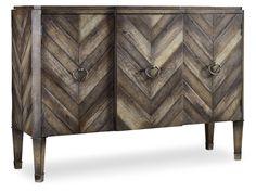 Hooker Furniture Living Room Chevron Console 638-85092