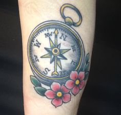 Compass Feather Tattoo   Portfolio Archive - Holy Cow Tattoos