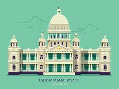 Dribbble - Lalitha Mahal Palace - Mysore by ranganath krishnamani