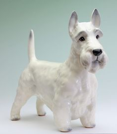 Wheaten Scottish Terrier White Scottie Japanese Ceramic Porcelain Dog Figurine in Collectibles, Animals, Dogs | eBay