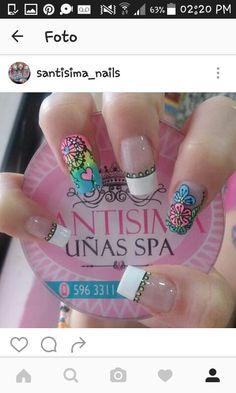 Cool, Nail Art, Nails, Beauty, Short Nails, Nail Manicure, Finger Nails, Ongles, Nail Arts