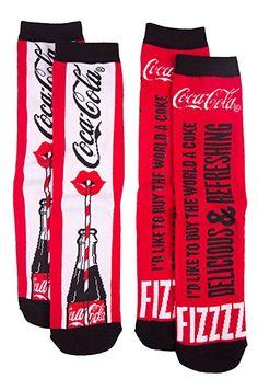 Womens Coca Cola Its The Real Thing 2pk Socks