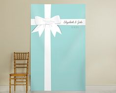 "Personalized ""Something Blue"" Photo Backdrop"