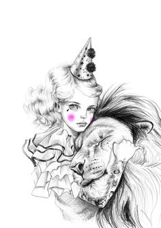 Lion Whisperer art print  limited edition by JulieFilipenko, ₪110.00