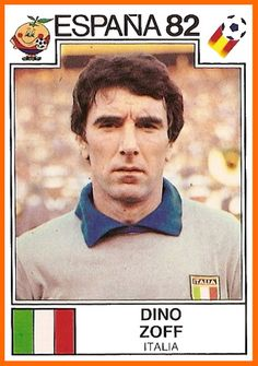 World Cup Story Dino Zoff of Italia Espana 82 - Panini Uefa Football, Football Icon, Retro Football, National Football Teams, Arsenal Football, Football Stickers, Football Cards, Image Foot, Association Football
