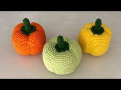 Crochet Patterns, Crochet Hats, Hobbit, Make It Yourself, Youtube, Crochet Fruit, Blue Prints, Crocheting, Red Peppers