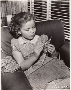 Shirley Temple, in her trailer on the set of Susannah of the Mounties, 1939.